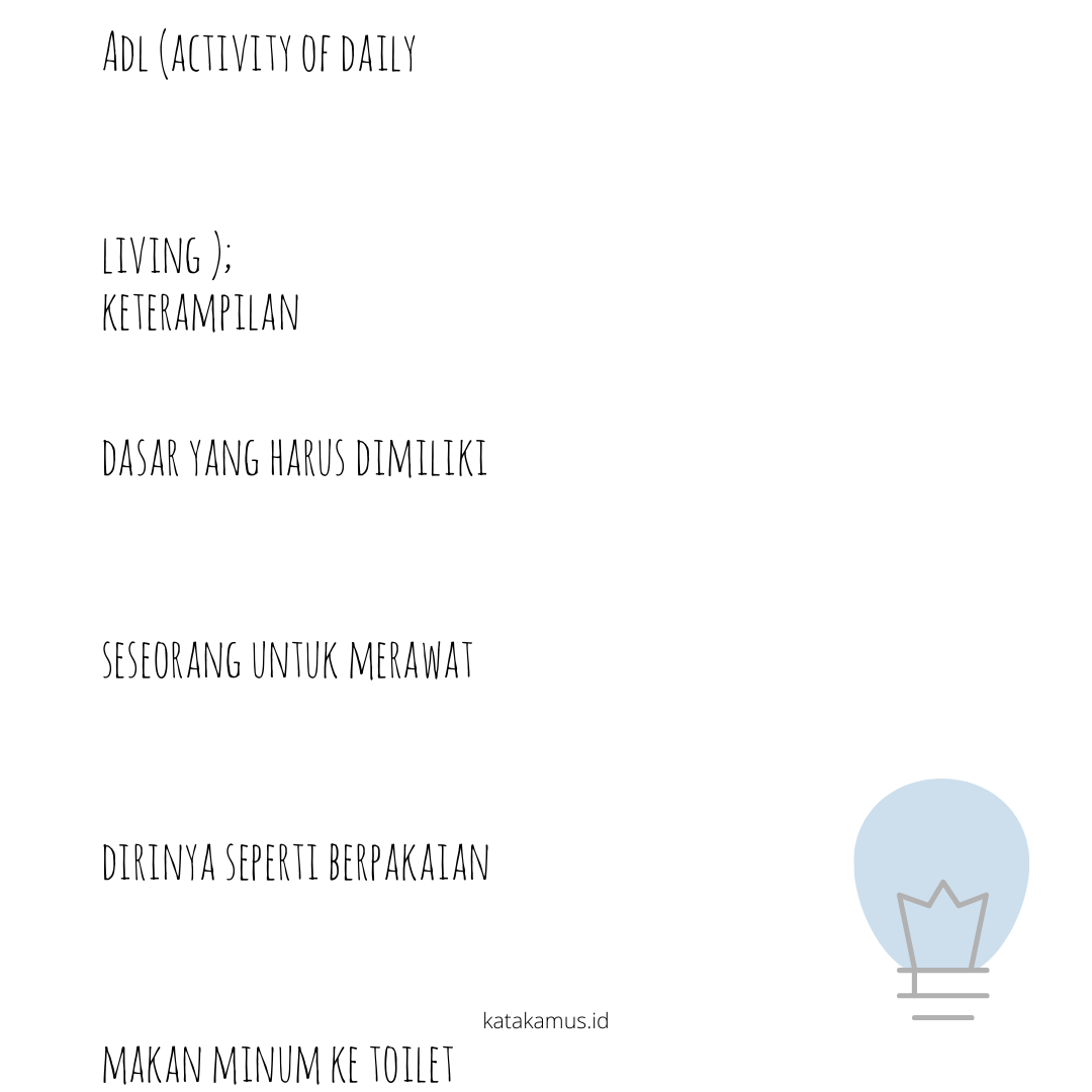 gambar ADL (Activity of Daily Living )