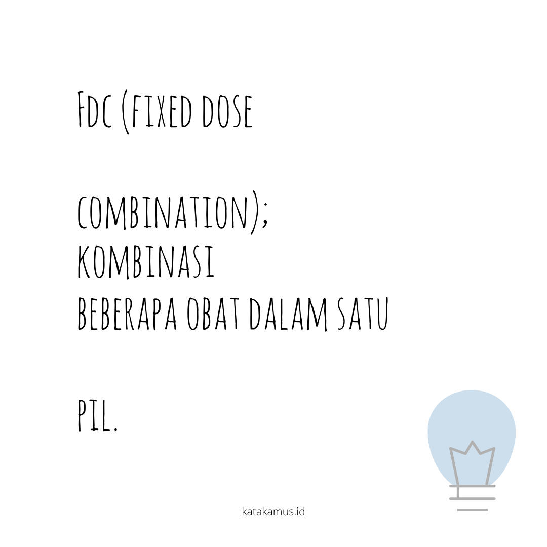 gambar FDC (Fixed Dose Combination)